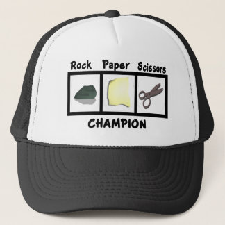 Rock Paper Scissors Champion Trucker Hat