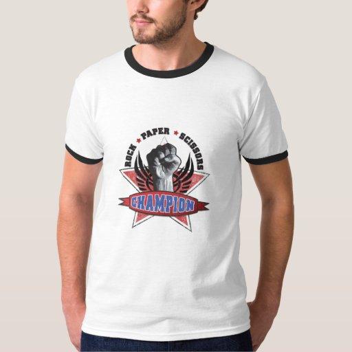 Rock, Paper, Scissors Champion Tshirts