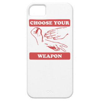 Rock Paper Scissors Choose Your Weapon iPhone 5 Covers