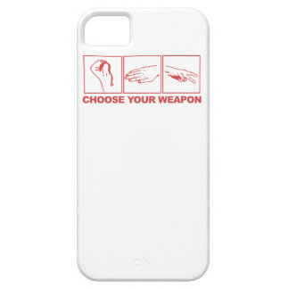 Rock Paper Scissors Choose Your Weapon iPhone 5 Cover