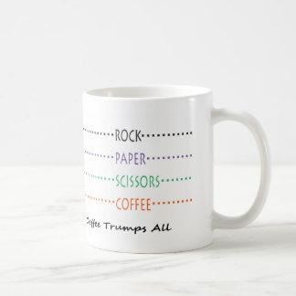 Rock Paper Scissors Coffee Coffee Mug