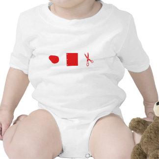 rock paper scissors for baby t shirt