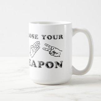 Rock Paper Scissors Funny Mug Humor