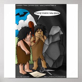 Rock Paper Scissors Funny Poster