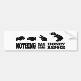 Rock Paper Scissors -- Honey Badger! Car Bumper Sticker