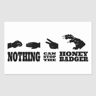 Rock Paper Scissors -- Honey Badger! Sticker
