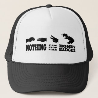 Rock Paper Scissors -- Honey Badger! Trucker Hat