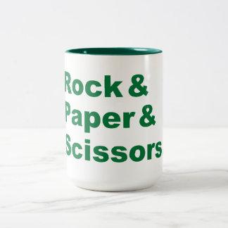Rock & Paper & Scissors Mug