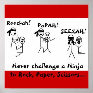 Rock, Paper, Scissors NINJA! Poster