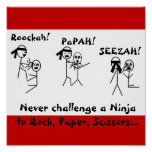 Rock, Paper, Scissors NINJA! Print