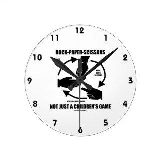 Rock-Paper-Scissors Not Just A Children's Game Round Wall Clocks