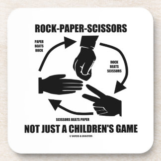 Rock-Paper-Scissors Not Just A Children's Game Drink Coasters