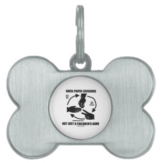 Rock-Paper-Scissors Not Just A Children's Game Pet Name Tags