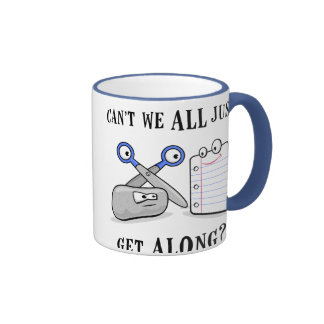 Rock-Paper-Scissors Ringer Coffee Mug
