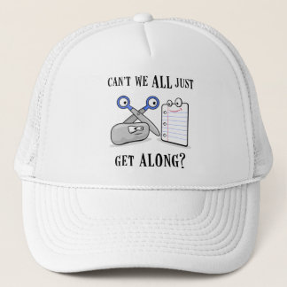 Rock-Paper-Scissors Trucker Hat