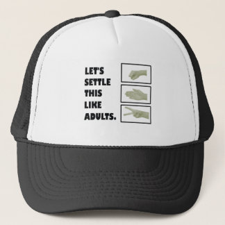 Rock Paper Scissors Trucker Hat