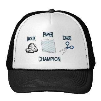 rock paper scissors trucker hat