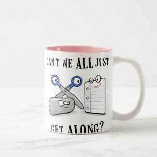 Rock-Paper-Scissors Two-Tone Coffee Mug