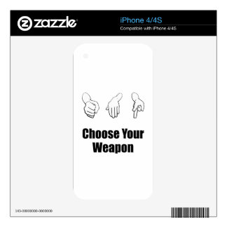 Rock Paper Scissors Weapon Decals For The iPhone 4S