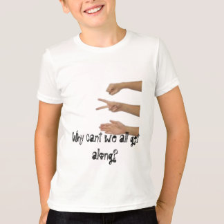 rock paper scissors why cant we all get along tee