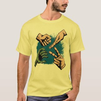 Rock, Paper, Scissors... Zombie? T-Shirt