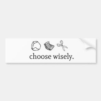 Rock Paper Sissors Choose Wisely Bumper Sticker
