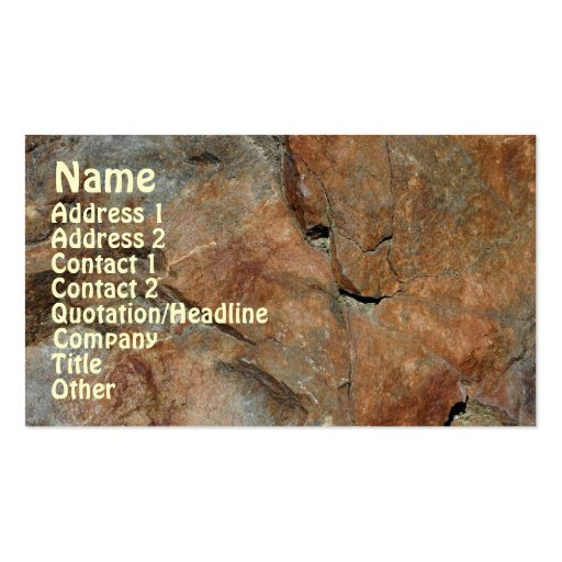 Rock Pattern Nature Business Card