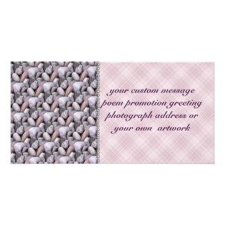 Rock Pattern Photo Greeting Card