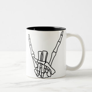 Rock, peace Two-Tone coffee mug