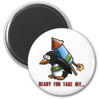 rock penguin E Magnet