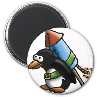rock penguin F Magnet
