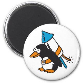 rock penguin magnet