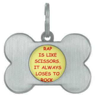 rock pet tag