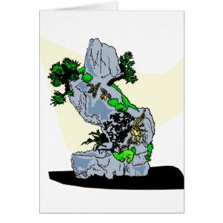 Rock Planting Bonsai Graphic Image Card
