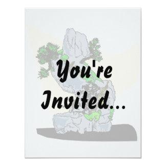 Rock Planting Bonsai Graphic Image Invite