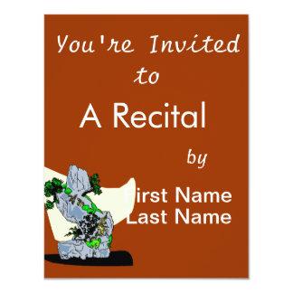 Rock Planting Bonsai Graphic Image Personalized Invites