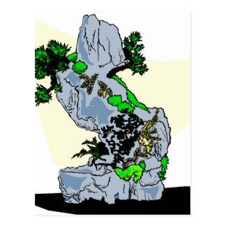 Rock Planting Bonsai Graphic Image Postcard