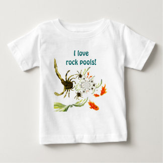 Rock Pool crabs and fish fun Baby T-Shirt