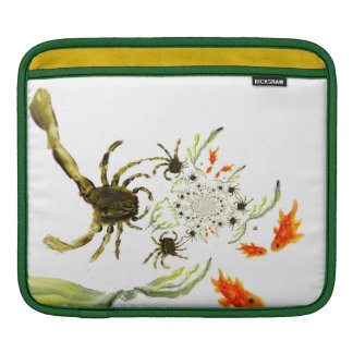 Rock Pool Crabs and Fish Fun Sleeves For iPads