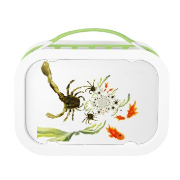 Beach Themed Rock Pool Crabs and Fish Fun Lunch Box