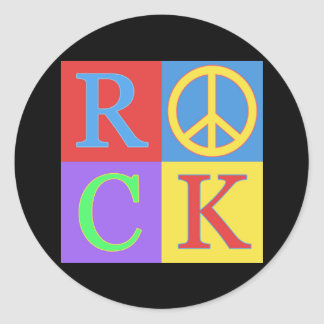 Rock Pop Art Design Classic Round Sticker