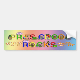 Rock preescolares - estrellas etiqueta de parachoque