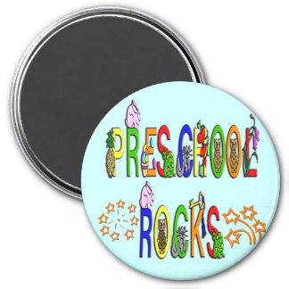 Rock preescolares - estrellas imán redondo 7 cm