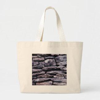 rock puzzle large tote bag