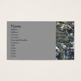 Rock Quarry Wall Nature Photography Business Card