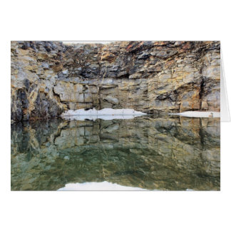 Rock Quarry Wall Reflections 1 Nature Card