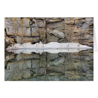 Rock Quarry Wall Reflections 2 Nature Card