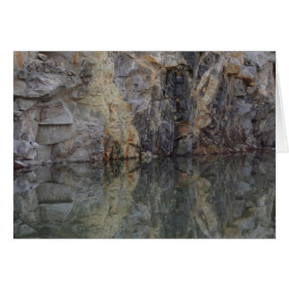 Rock Quarry Wall Reflections 3 Nature Card