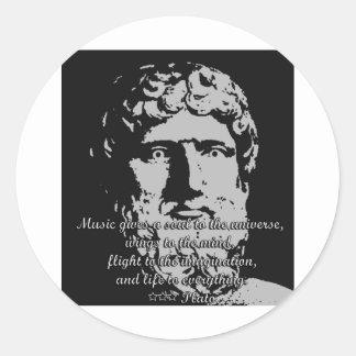 Rock Quotes - Plato Classic Round Sticker