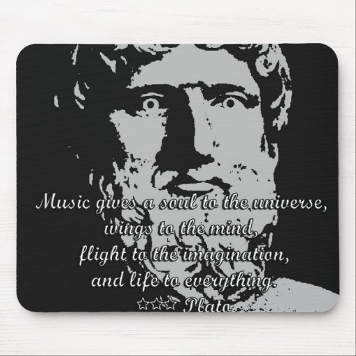 Rock Quotes - Plato Mouse Pad